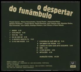 Figura 2b: O Despertar do Funâmbulo (contracapa), de Américo Rodrigues