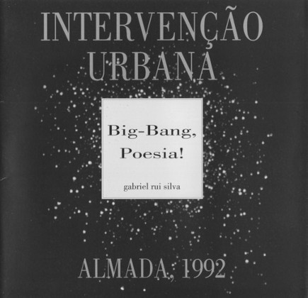 Intervenção urbana. Big-Bang, Poesia!
