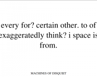 Machines of Disquiet TX01-07 (4/21)