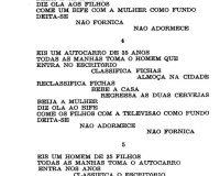 Séries coligidas de poemas por computador (15/16)