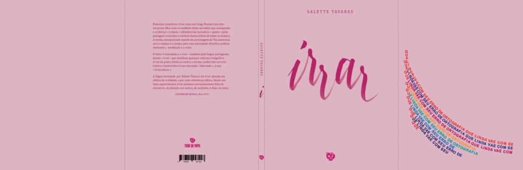 Irrar, de Salette Tavares | Capa de João Brandão